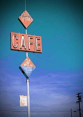 Gaston's Cafe Poster by Charlette Miller