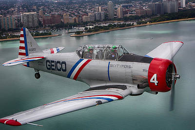 Geico Skytypers Poster by Jerome Lynch