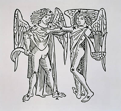 Gemini An Illustration Poster by Italian School
