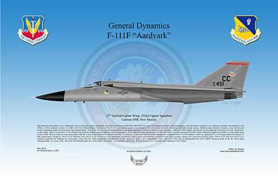 General Dynamics F-111f Aardvark Poster