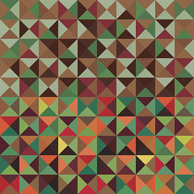 Poster featuring the digital art Geometric Pattern by Mike Taylor