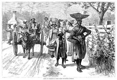 Georgia Market, 1875 Poster by Granger