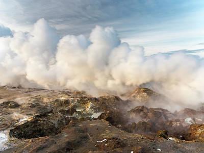 Geothermal Area Gunnuhver On Reykjanes Poster