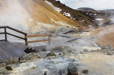 Geothermal Area Seltun Heated Poster