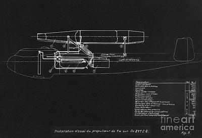 German Wwii Ramjet Bomber Blueprint Poster