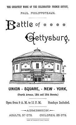 Gettysburg Cyclorama, C1885 Poster by Granger