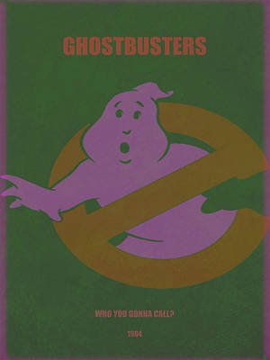 Poster featuring the digital art Ghostbusters Movie Poster by Brian Reaves