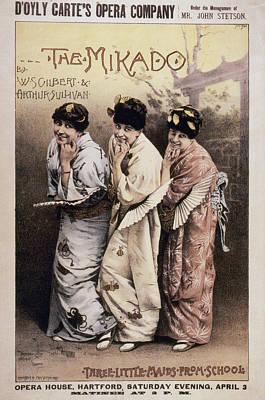 Gilbert & Sullivan Mikado Poster by Granger