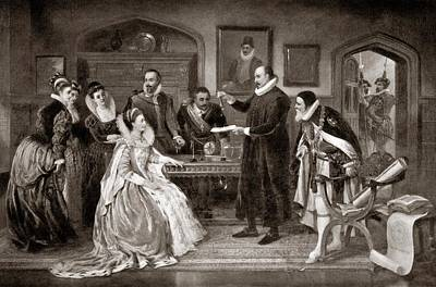 Gilbert Shows Electricity To Elizabeth I Poster by Science Photo Library