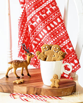 Gingerbread At Christmas Poster by Amanda Elwell