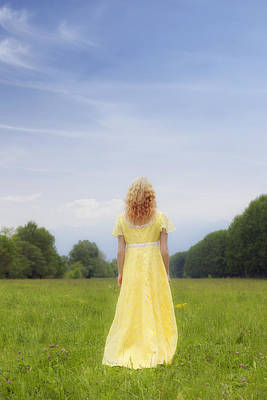 Girl On Meadow Poster