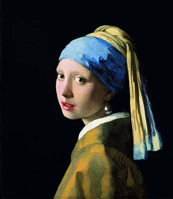 Poster featuring the painting Girl With A Pearl Earring by Jan Vermeer