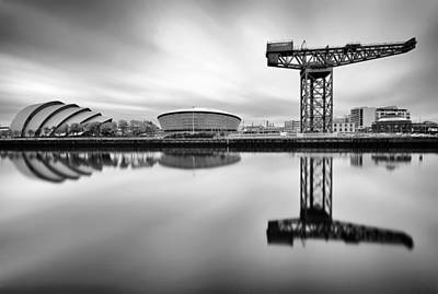 Glasgow Clyde Reflections Poster by Grant Glendinning