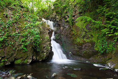 Gleno Waterfall Poster