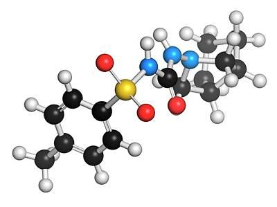 Gliclazide Diabetes Drug Molecule Poster by Molekuul