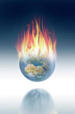 Global Warming Poster by Detlev Van Ravenswaay