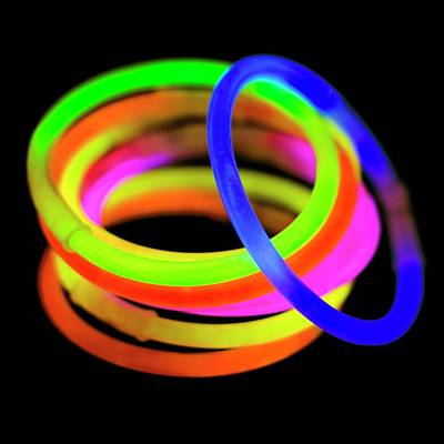 Glow Bracelets Poster by Science Photo Library