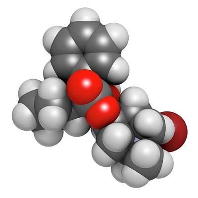 Glycopyrronium Bromide Copd Drug Molecule Poster by Molekuul