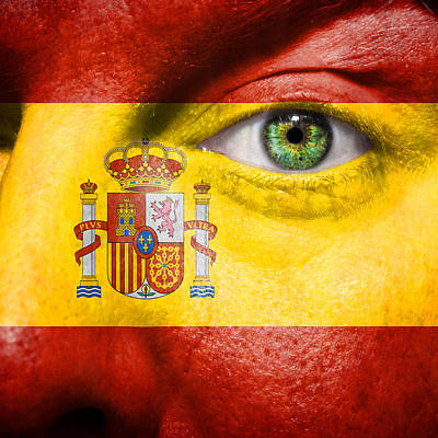 Go Spain Poster by Semmick Photo