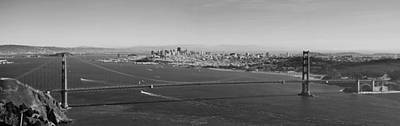 Golden Gate Bridge Panorama Poster by Twenty Two North Photography