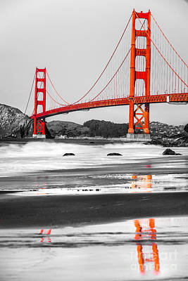 Golden Gate - San Francisco - California - Usa Poster by Luciano Mortula