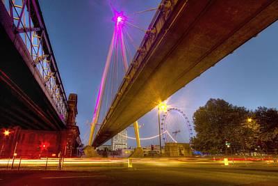 Golden Jubilee Bridges London Poster by David French