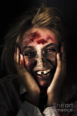 Good Mourning. Face Of A Zombie Apocalypse Poster