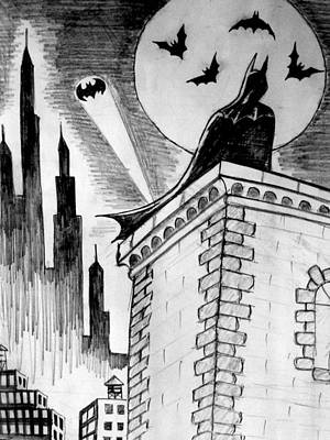 Poster featuring the painting Gotham  by Salman Ravish