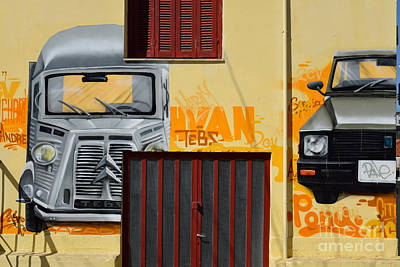Graffiti On A Wall Poster by George Atsametakis