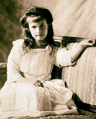 Grand Duchess Anastasia Nikolaevnav 1909 Poster by Mountain Dreams