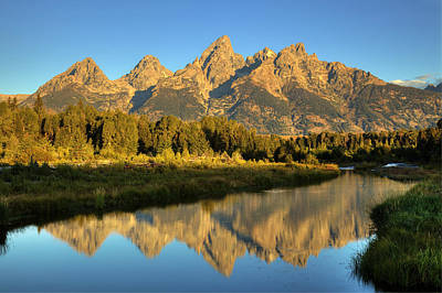 Poster featuring the photograph Grand Teton by Alan Vance Ley