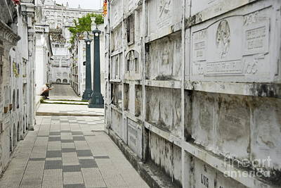 Graveyard At La Ciudad Blanca Poster by Sami Sarkis