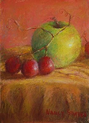 Green Apple Poster by Nancy Stutes