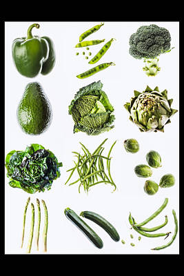Green Vegetables Poster by Philippe Garo