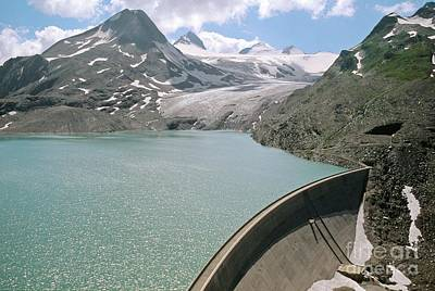 Griesse Lake And Dam, Switzerland Poster