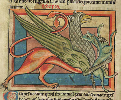 Griffin Carries Its Prey Poster by British Library