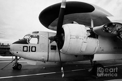Grumman E1b E1 Tracer On Display On The Flight Deck Of The Uss Intrepid Poster by Joe Fox