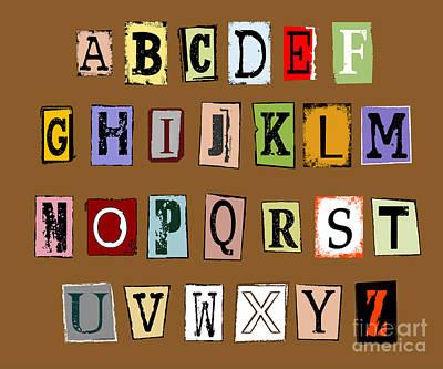 Grunge Alphabet Poster by Michal Boubin