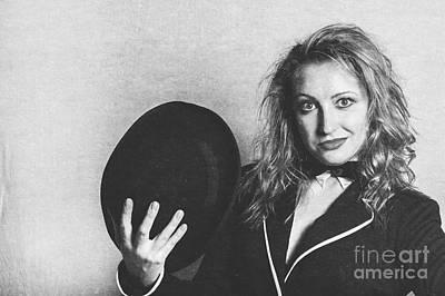 Grunge Photo Of Female Cabaret Performer Poster