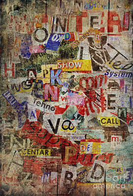 Grunge Textured Background Poster by Jelena Jovanovic