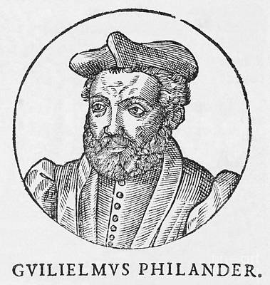 Guillaume Philandrier, French Humanist Poster by Middle Temple Library