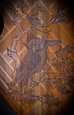 Poster featuring the photograph Guitar Carving - Bali by Matthew Onheiber