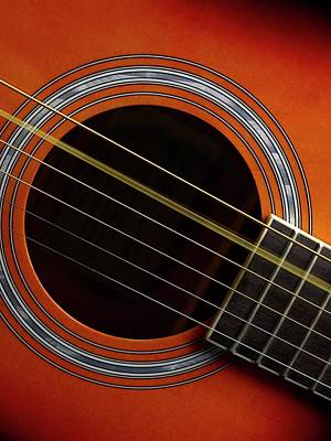 Guitar Strings At Rest And Vibrating Poster by Science Photo Library