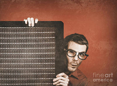 Guitarist Man Performing Stage Sound Check Poster