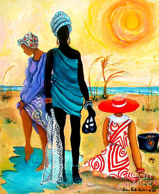 Poster featuring the painting Gullah-creole Trio  by Diane Britton Dunham