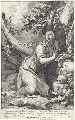 H Penitent Mary Magdalene Poster by Willem Isaacsz. Van Swanenburg And Cornelis Gijsbertsz. Plemp And Jacques Razet