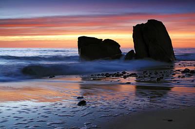 Hallett Cove Sunset 2 Poster by Bill  Robinson