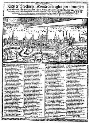 Halley's Comet, 1680 Poster