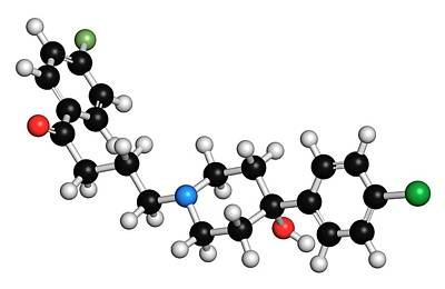 Haloperidol Antipsychotic Drug Molecule Poster by Molekuul