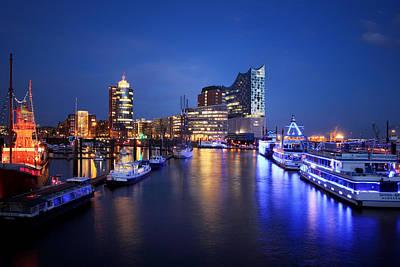 Hamburg Skyline Poster by Marc Huebner